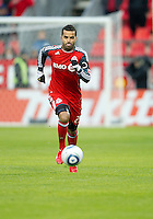 16 April 2011: Toronto FC forward Maicon Santos #29 in action during an MLS game between D.C. United and the Toronto FC at BMO Field in Toronto, Ontario Canada..D.C. United won 3-0.