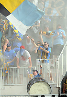 Fans of the Philadelphia Union against Toronto FC during an MLS match at PPL stadium in Chester, Pa. on July 17 2010. Union won 2-1 on a last minute penalty kick goal.