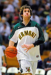 12 December 2010: University of Vermont Catamount forward Garrett Kissel (45), a Senior from Springfield, MA, warms up prior to facing the Marist College Red Foxes at Patrick Gymnasium in Burlington, Vermont. The Catamounts (7-2) defeated the Red Foxes  75-67 notching their 7th win of the season, and their best start since the '63-'64 season. Mandatory Credit: Ed Wolfstein Photo