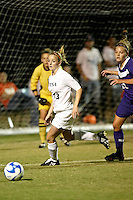 SAN ANTONIO, TX - OCTOBER 31, 2008: The University of Central Arkansas Bears vs. The University of Texas at San Antonio Roadrunners Women's Soccer at the UTSA Soccer Field. (Photo by Jeff Huehn)