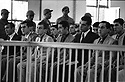 Turquie 1981.Diyarbakir: Proces de Ozgurluk, 4eme gauche Mehdi Zana, le 25 mai 1981.<br /> Turkey 1981.Diyarbakir: Trial of Ozgurluk party, 4th left Mehdi Zana, may 25th 1981<br /> تورکیا سالی 1981, دیاربه کر, ره وتی دادگای ئووگورلووک، له لای چه پ مهدی زانا چواره مین که سه