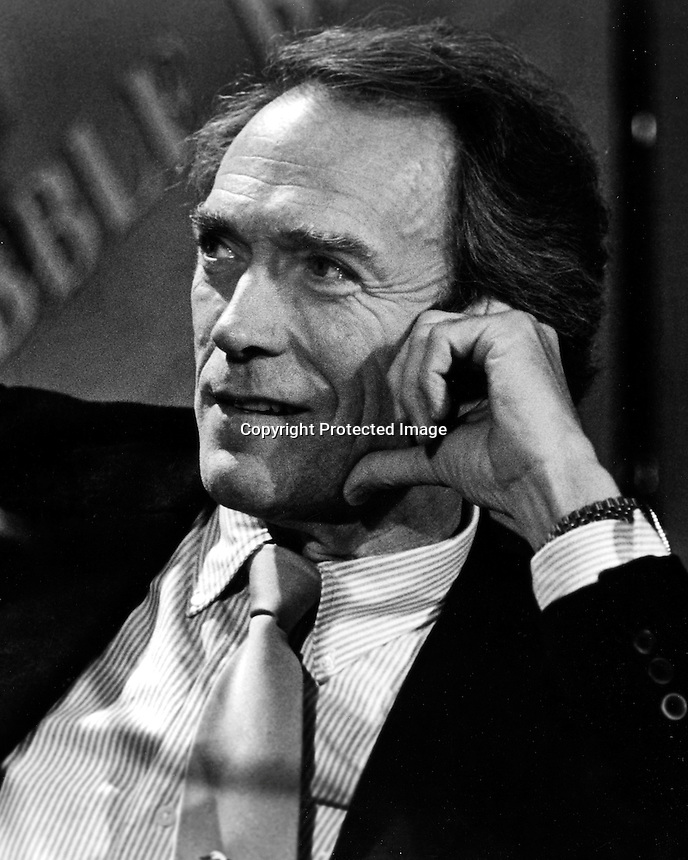 Actor Clint Eastwood .(1985 photo by Ron Riesterer(