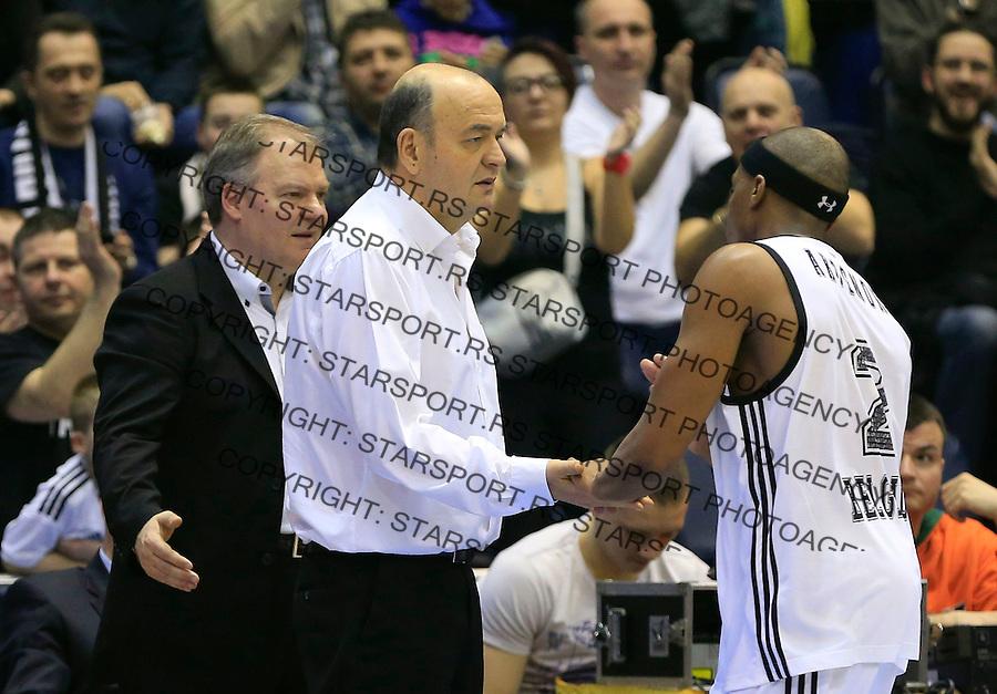Kosarka ABA League season 2014-2015<br /> Partizan v Zadar<br /> Head coach Dusko Vujosevic and Josh Akognon<br /> Beograd, 15.03.2015.<br /> foto: Srdjan Stevanovic/Starsportphoto&copy;