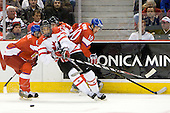 Martin Paryzek (Czech Republic - 6), Evander Kane (Canada - 29), Brett Sonne (Canada - 12), Ondrej Roman (Czech Republic - 10) - Team Canada defeated the Czech Republic 8-1 on the evening of Friday, December 26, 2008, at Scotiabank Place in Kanata (Ottawa), Ontario during the 2009 World Juniors U20 Championship.