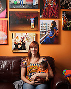 Ali Neff and her infant son, Serene Saliou, at her home in Chapel Hill, North Carolina, Saturday, Nov. 3, 2012. .