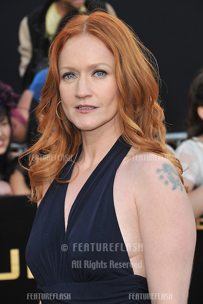 """Paula Malcomson at the world premiere of """"The Hunger Games"""" at the Nokia Theatre L.A. Live..March 12, 2012  Los Angeles, CA.Picture: Paul Smith / Featureflash"""
