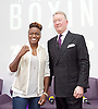 Frank Warren Boxing Promoter and BT Sport Press Conference at BT Tower London Great Britain <br /> <br /> 23rd January 2017 <br /> <br /> Frank Warren introduces Boxers who will be taking part in tournaments during 2017. <br /> <br /> with Nicola Adams <br /> who he has just signed <br /> <br /> Photograph by Elliott Franks <br /> Image licensed to Elliott Franks Photography Services