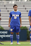 04 September 2011: UCSB's Josue Madueno. The University of California Santa Barbara Broncos defeated the North Carolina State University Wolfpack 1-0 at Koskinen Stadium in Durham, North Carolina in an NCAA Division I Men's Soccer game.