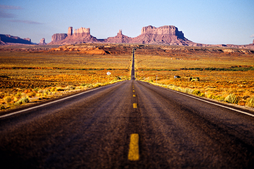 U S Route 163 Approaching Monument Valley Utah Arizona