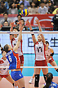 (L to R) Saori Kimura (JPN), Kanako Hirai (JPN),.MAY 27, 2012 - Volleyball : FIVB the Women's World Olympic Qualification Tournament for the London Olympics 2012, between Japan 2-3 Serbia at Tokyo Metropolitan Gymnasium, Tokyo, Japan. (Photo by Jun Tsukida/AFLO SPORT) [0003].