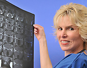 Woman radiologist Medical Doctor stock Photo