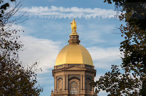 November 14, 2016; The Golden Dome and Main Building. (Photo by Barbara Johnston/University of Notre Dame)