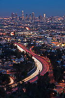 Los Angeles CA, Twilight, Dusk, Night, magic Hour,  Skyline, Clear Evening, Hollywood to Downtown