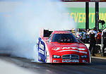 May 18, 2012; Topeka, KS, USA: NHRA funny car driver Johnny Gray during qualifying for the Summer Nationals at Heartland Park Topeka. Mandatory Credit: Mark J. Rebilas-