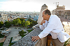 Sept. 6, 2011; Architecture professor Luis Trelles looks over a market square in Havana, Cuba that is the subject of a study by architecture graduate students. ..Photo by Matt Cashore/University of Notre Dame