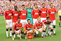 Manchester United starting XI...Kansas City Wizards defeated Manchester United 2-1 in an international friendly at Arrowhead Stadium, Kansas City, Missouri.