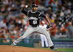 16 August 2008: Colorado Rockies' relief pitcher Luis Vizcaino on the mound against the Washington Nationals at Nationals Park in Washington, DC.  The Rockies defeated the Nationals 13-6, handing the last place Nationals their 9th consecutive loss. ..Mandatory Photo Credit: Ed Wolfstein Photo