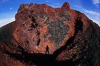 Oxidised rocks look like they are still hot. Piton de la Fournaise, La Réunion, 2008