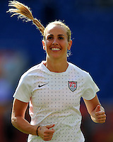 Heather Mitts of team USA during the FIFA Women's World Cup at the FIFA Stadium in Sinsheim, Germany on July 2nd, 2011.