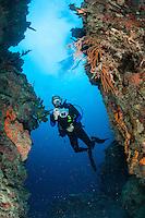 Steve Horness MR.<br /> Salt River Canyon East Wall.<br /> St. Croix.<br /> U.S. Virgin Islands