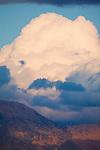 Cumulous clouds at sunset