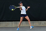24 March 2016: Notre Dame's Monica Robinson. The North Carolina State University Wolfpack hosted the University of Notre Dame Fighting Irish at the J.W. Isenhour Tennis Center in Raleigh, North Carolina in a 2015-16 NCAA Division I Women's Tennis match. NC State won the match 4-3.