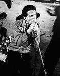 The Clash 1977 Joe Strummer.© Chris Walter.