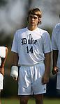 Duke's Joe Germanese on Sunday, November 19th, 2006 at Koskinen Stadium in Durham, North Carolina. The Duke Blue Devils defeated the Lehigh University Mountain Hawks 3-0 in an NCAA Division I Men's Soccer Championship third round game.