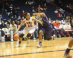 "Ole Miss' Kayla Melson (20) vs. LSU on Sunday, January 17, 2010 at the C.M. ""Tad"" Smith Coliseum in Oxford, Miss."