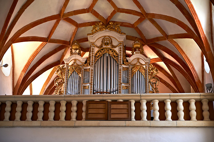 Organ of  Prejmer Fortified Church, Transylvania. Unesco World Heritage Site.