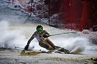 Nighttime slalom racing in Chamonix