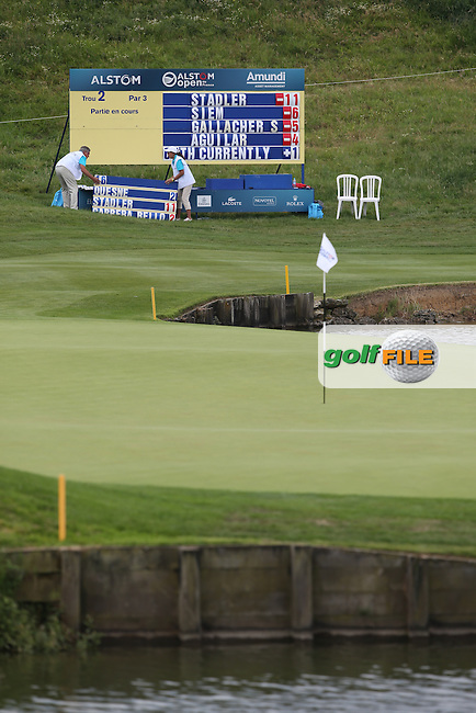 Scoreboard in action during Round Two of the Alstom Open de France from Le Golf National, Guyancourt, Versailles, France. Picture:  David Lloyd / www.golffile.ie