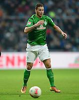 FUSSBALL   1. BUNDESLIGA   SAISON 2012/2013    24. SPIELTAG SV Werder Bremen - FC Augsburg                           02.03.2013 Marko Arnautovic (SV Werder Bremen) Einzelaktion am Ball
