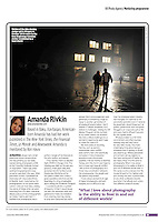 Caption: Victims of the Ajka alumina sludge spill in Hungary in October 2010 return to the new beginnings homeless shelter <br /> <br /> Amateur Photographer, &quot;Amanda Rivkin,&quot; feature on VII Mentor, September 8, 2012, p. 29.