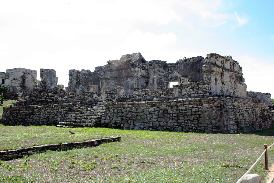 Ruins of Mayan building at Tulum Mexico