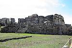 Ruins of Mayan building at Tulum Mexico