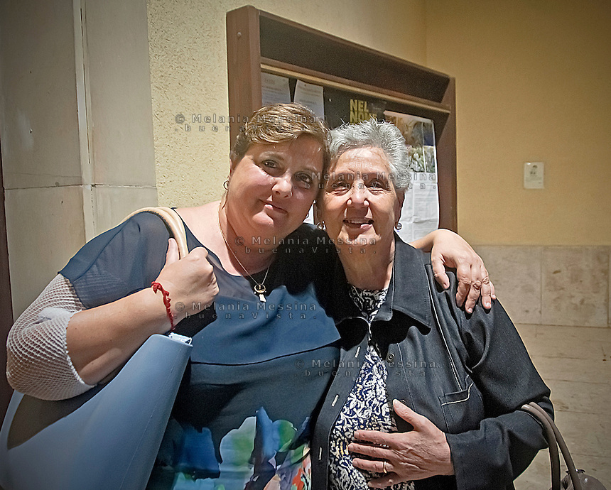 La sign. Lia con la mamma Rosa<br /> Lia and her mother