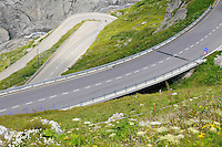 Alpine winding road