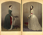 "1851 Fashions from Godey's Ladies Book 1851 ""The dress maker and the dress wearer"""