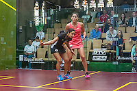 Raneem El Welily (EGY) vs. Joelle King (NZL) in the women's semifinals of the 2014 METROsquash Windy City Open held at the University Club of Chicago in Chicago, IL on March 2, 2014