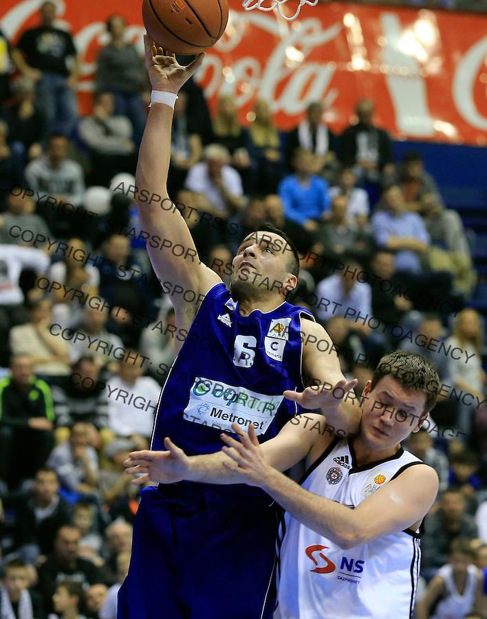 Kosarka ABA League season 2014-2015<br /> Partizan v Zadar<br /> Ive Ivanov (L) and Andreja Milutinovic<br /> Beograd, 15.03.2015.<br /> foto: Srdjan Stevanovic/Starsportphoto&copy;