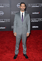 Actor Riz Ahmed at the world premiere of &quot;Rogue One: A Star Wars Story&quot; at The Pantages Theatre, Hollywood. <br /> December 10, 2016<br /> Picture: Paul Smith/Featureflash/SilverHub 0208 004 5359/ 07711 972644 Editors@silverhubmedia.com
