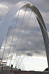 Clyde Arc Bridge on the River Clyde, Glasgow, Scotland