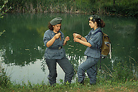 Donne Forestali. Corso di addestramento. Forestry women. Training course..Analisi delle acque e controllo inquinamento ambientale. Analysis and control of water pollution....