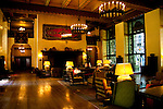 Great room, interior, Ahwahnee Hotel,Yosemite Valley, Yosemite National Park, California, USA.  Photo copyright Lee Foster.  Photo # california120796