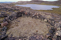 731000072 a inuit people tent ring a native american artifact in the wager bay area of nunuvat territories in northern canada