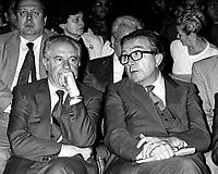 Giulio Andreotti - Clelio Darida Democrazia Cristiana.Giulio Andreotti - Clelio Darida Christian Democratic party