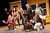 The Infidel  - The Musical <br /> at Theatre Royal Stratford East, Stratford, London, Great Britain <br /> 8th October 2014<br /> <br /> Alexander Andreou <br /> <br /> Andrew Paul <br /> <br /> Steven Serlin <br /> <br /> Mina Anwar <br /> <br /> Siobhan Athwai <br /> <br /> Melanie Marshall<br /> <br /> Melanie Masson <br /> <br /> Kev Orkian <br /> <br /> Gary Wood<br /> <br /> Photograph by Elliott Franks <br /> Image licensed to Elliott Franks Photography Services