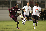 1 November 2006: Boston College's Reuben Ayarna (20) and Maryland's Maurice Edu (10). Maryland defeated Boston College 1-0 in double overtime at the Maryland Soccerplex in Germantown, Maryland in an Atlantic Coast Conference college soccer tournament quarterfinal game.