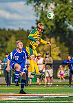 28 September 2013: University of Vermont Catamount Midfielder Carter Lincoln, a Senior from Essex Junction, VT, in action against the Hartwick College Hawks at Virtue Field in Burlington, Vermont. The Catamounts shut out the visiting Hawks 1-0. Mandatory Credit: Ed Wolfstein Photo *** RAW (NEF) Image File Available ***